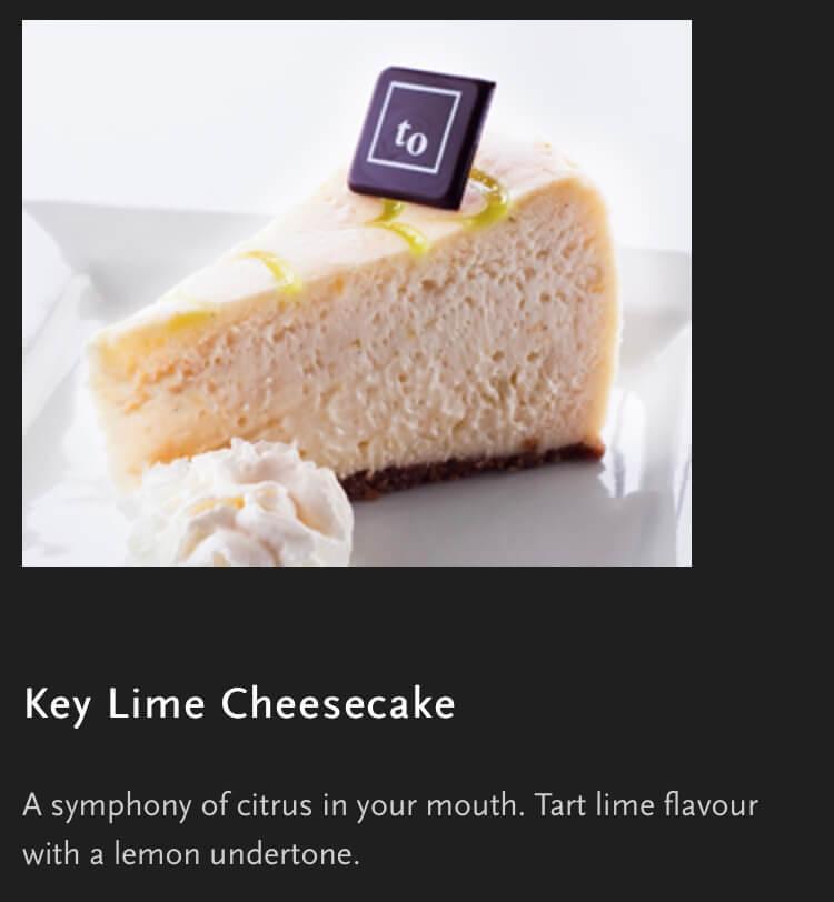 キーライムチーズケーキ
