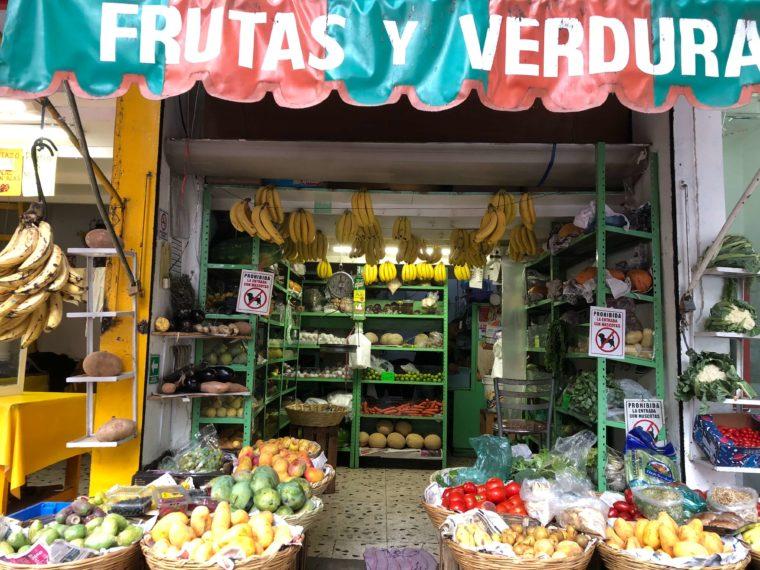 メキシコシティのローカル お店 野菜屋さん