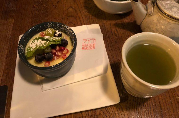 バンクーバーのおすすめ日本食レストランライスのグレープフルーツプディング