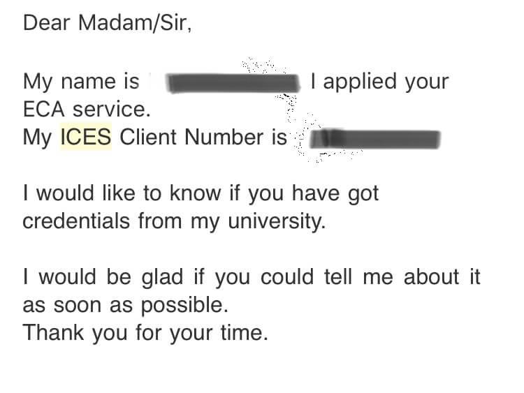 英語のメール 書類が届かない