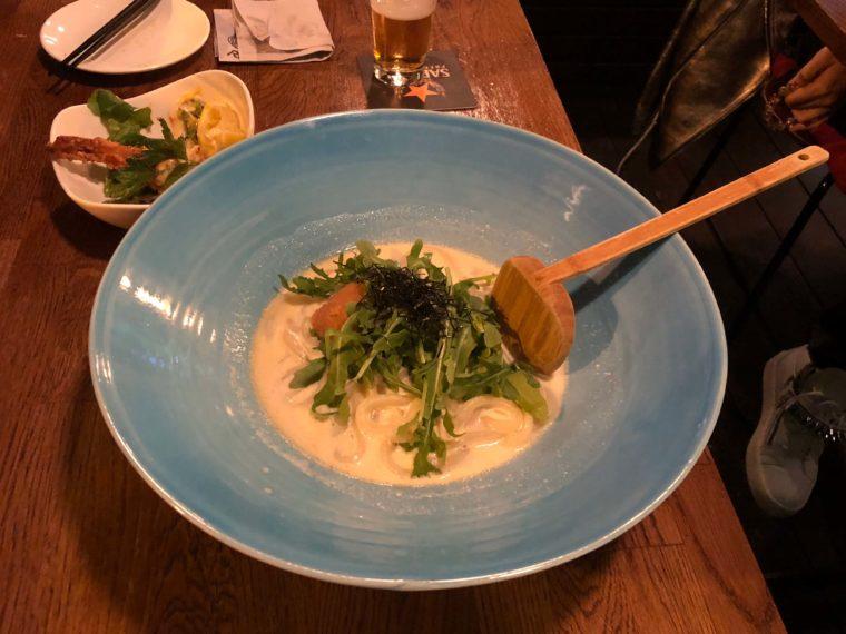 バンクーバーのおすすめ日本食レストランライスのめんたいクリームうどん