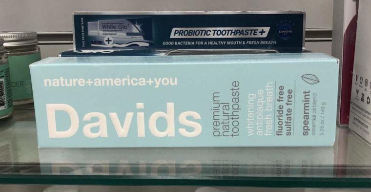 Winnersに人気オーガニック歯磨き粉Davids発見