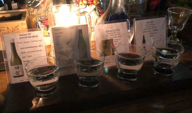 ビクトリアの日本酒がたくさんあるレストランいろいろ楽しめる酒フライト