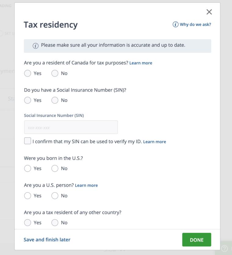 カナダの証券口座開設の手順Questrade